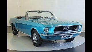 Ford Mustang V8 Convertible 1968 -VIDEO- www.ERclassics.com