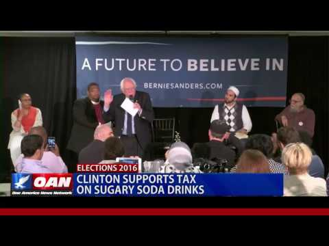 Clinton Supports Tax on Sugary Soda Drinks