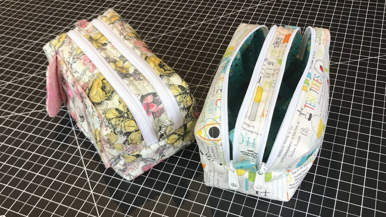 Two Zipper Boxy Bag Free Sewing Pattern And Video Sew Modern Bags