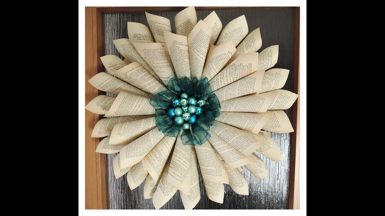 paprov re vnec diy paper wreath christmas decorations youtube