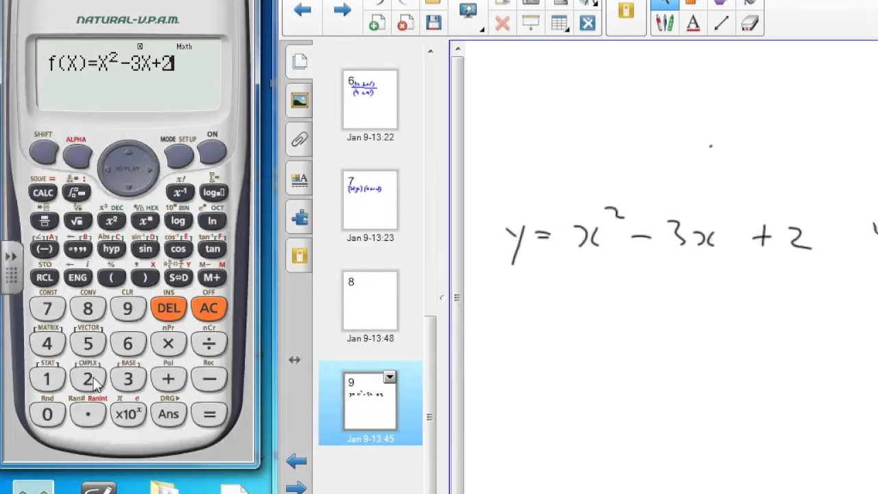 Casio calculator table function - YouTube