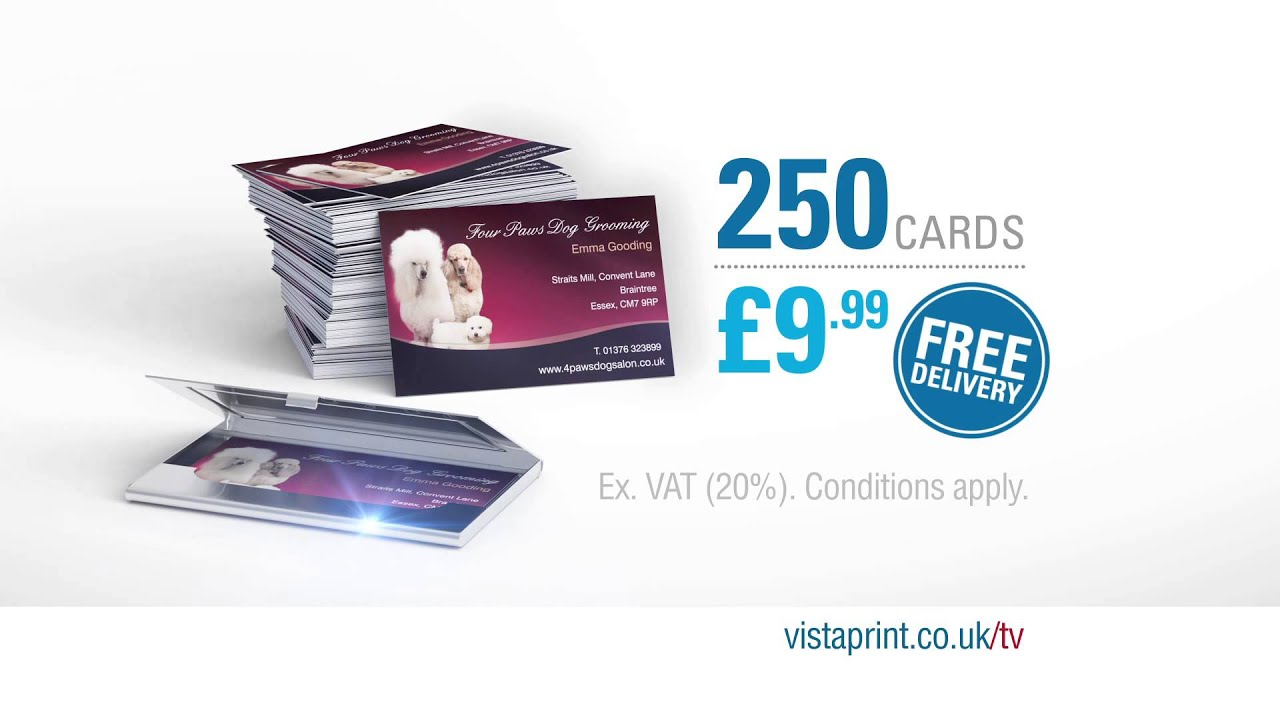 vistaprint tv advert 250 business cards emma vistaprint