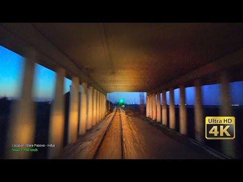 4K CABVIEW Beograd - Novi Sad + speed and route info