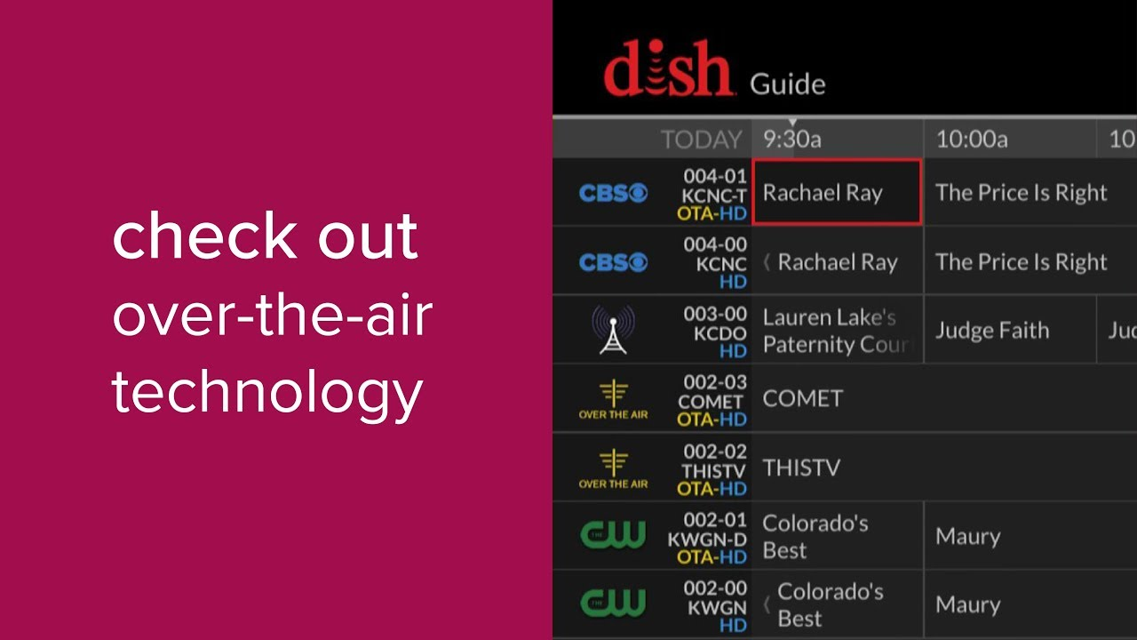 HDTV Over-the-Air Antenna Support | MyDISH | DISH Customer