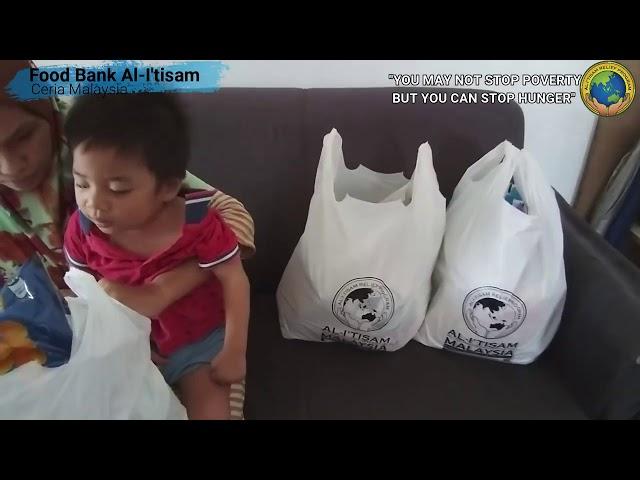 FOOD BANK AL-I'TISAM: SALAH SEORANG PENERIMA MANFAAT PROJEK FOOD BANK AL-I'TISAM