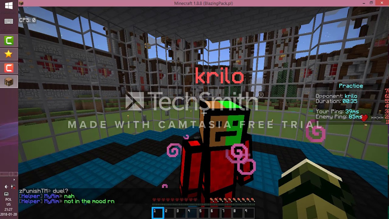 Minecraft gameplay on the best pvp server EVER  TapL go down YouTube