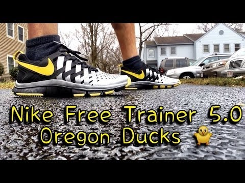 961590fc3352 Nike Free Trainer 5.0 Oregon Ducks Review   On Feet - YouTube