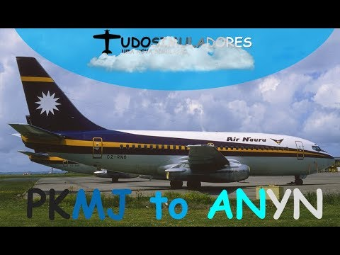 Live Stream - Voo de Marshall Islands para Nauru 737-200 Captain Sim IVAO
