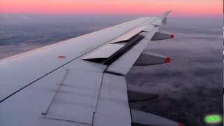 Brussels Airlines A319 Breathtaking, Smooth Landing During Sunrise in Brussels!