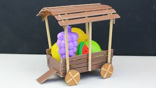 Easy Miniature Furniture #12 | Wooden Cart Wagon Toy