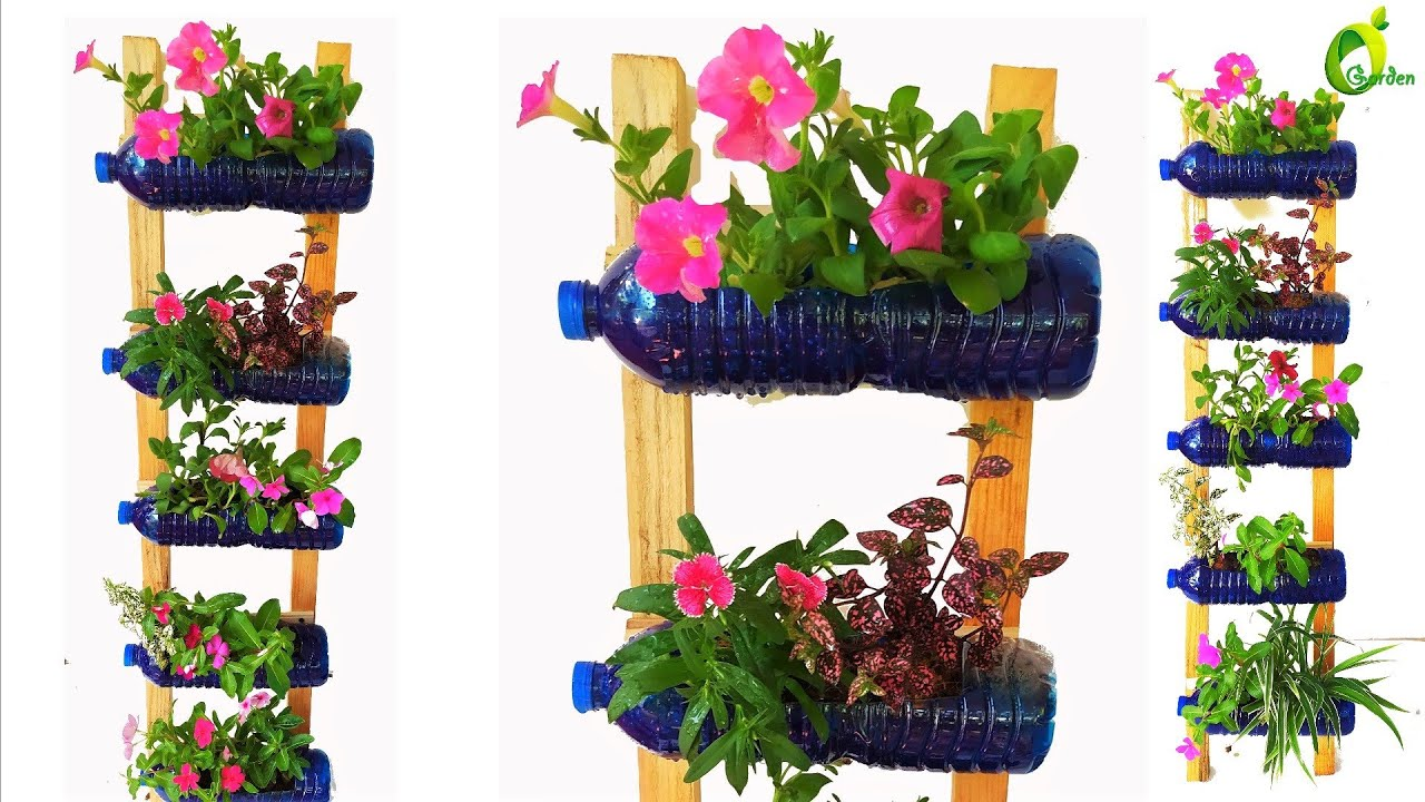 Recycle plastic Bottles Into Beautiful Flower Pots For Your Garden /Planter idea/ORGANIC GARDEN