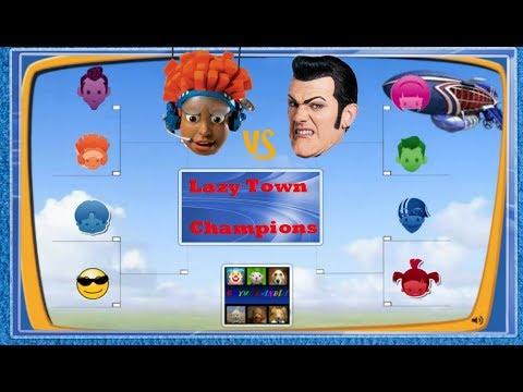 ZIGGY LAZY TOWN CHALLENGE: Lazy Town Champions - Quarterfinal ( Robbie vs Pixel )