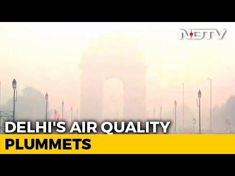 Delhi's Air Quality Sinks; Farm Waste Burning In Punjab, Haryana Blamed