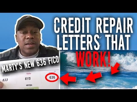 Credit Repair Letters That Work! || Marty's Testimonial 490 to 636 Credit Score || FICO Boosted!