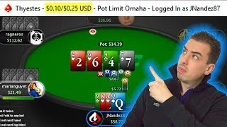 How Do You Beat Small Stakes PLO? Play and Explain $0.10/$0.25 Zoom