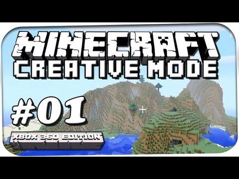 Lets Play Minecraft Creative Mode #001 [Xbox 360] - Das Haus im Berg