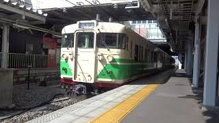 しなの鉄道115系(初代長野色) 長野駅発車