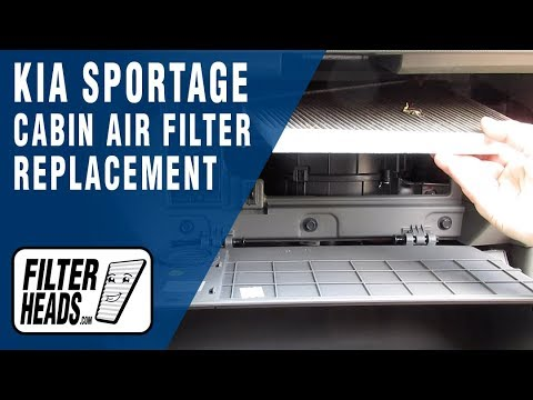 How to Replace Cabin Air Filter 2012 Kia Sportage