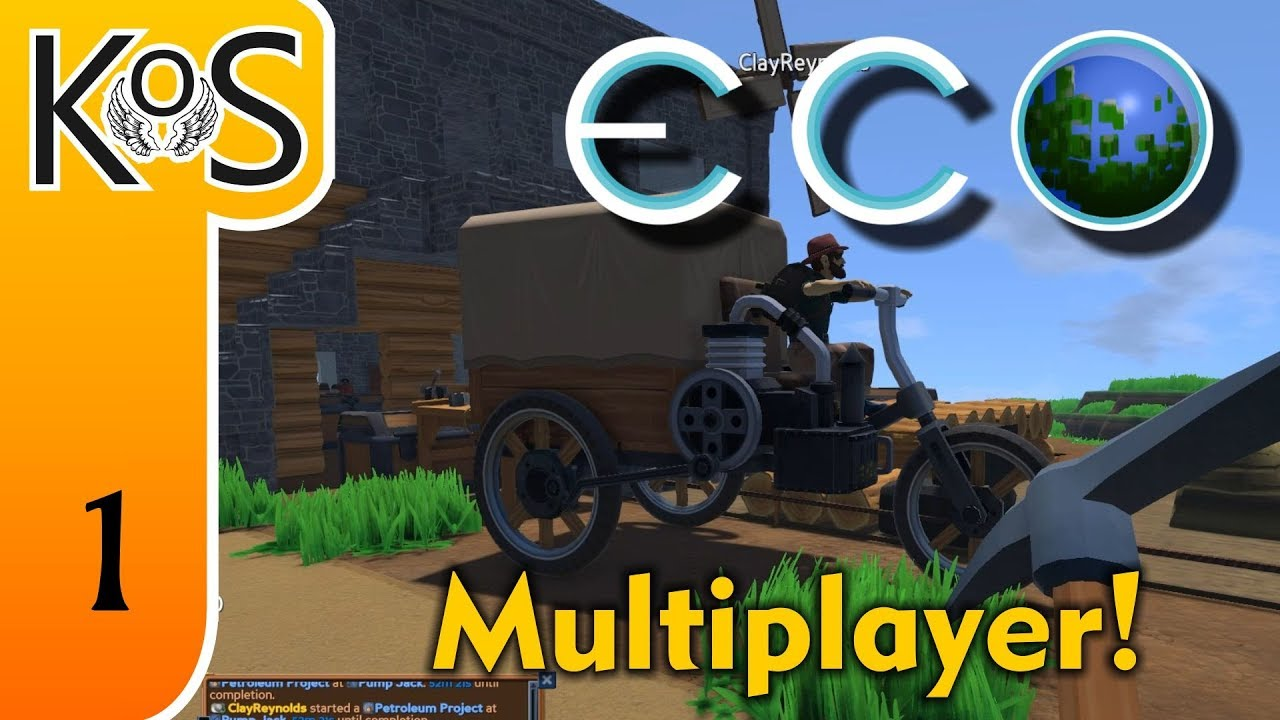 Eco Ep 1: CRAZY CART ADVENTURES - Multiplayer - Voxel Builder/RPG - Let's  Play