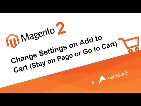 Magento 2 - Change Settings on Add to Cart (Stay on Page or Go to Cart)