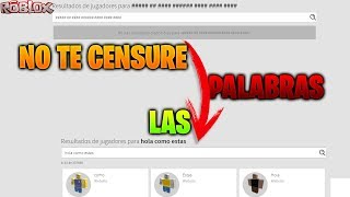 HOW TO MAKE ROBLOX NOT CENSURE THE WORDS!