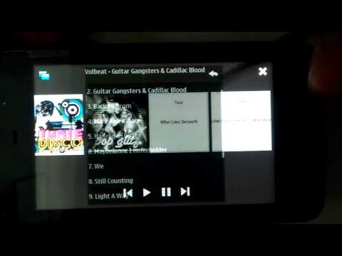 Music player with QML (N900)