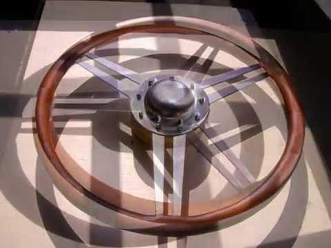 fabrication d 39 un volant de voiture ancienne youtube. Black Bedroom Furniture Sets. Home Design Ideas