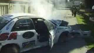 Rally Vyškov crash