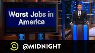 Moshe Kasher, Michelle Wolf, Nikki Glaser - Worst Jobs in America - @midnight with Chris Hardwick
