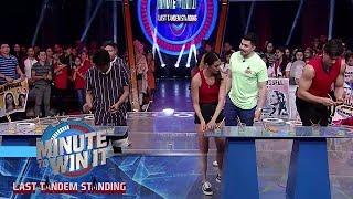 Speed Eraser | Minute To Win It - Last Tandem Standing