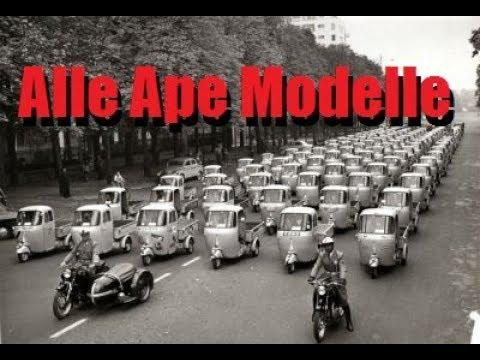 Alle Modelle der Piaggio Ape - Die Apeschrauber