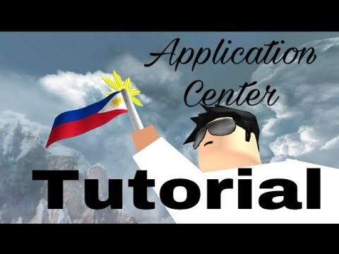 How to make an Application Center (ROBLOX)