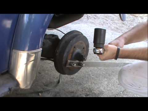 VW brake drum install and torque