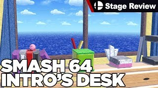 The Smash 64 Intro into a Stage in Smash Ultimate