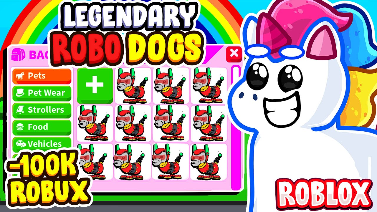 I SPENT ALL MY ROBUX ON THE NEW LEGENDARY ROBO DOG IN ADOPT ME! Roblox Adopt Me Update