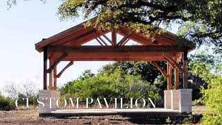 Custom Pavilion with Stamped Decorative Concrete - Freedom Outdoor Living, San Antonio Texas