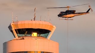 Removing the Ground Radar Antenna on Calgary's Control Tower - With a Helicopter!
