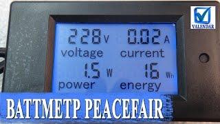 Ваттметр Peacefair сетевой измеритель мощности, амперметр, вольтметр  обзор и тесты