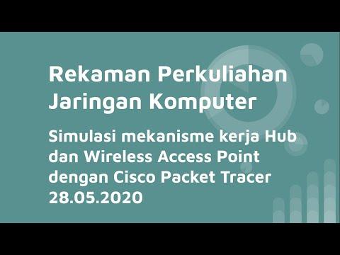 [IN022] Jaringan Komputer: Hub Vs Wireless Access Point (Simulasi Cara Kerja) Dengan Packet Tracer