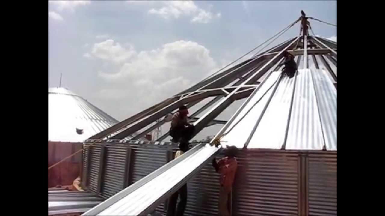 LESKO/EFTECH Steel Grain Silo Installation
