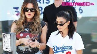 Khloe & Kourtney Kardashian Go Shopping With Penelope Disick On Melrose Ave. 7.28.17