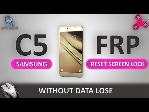 Samsung C5 C5000 Frp on,Crom on Reset Screen Lock without