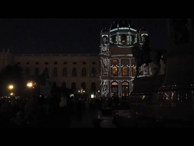 Wien leuchtet 2016,  Maria Theresien Platz, Kunsthistorisches Museum Wien