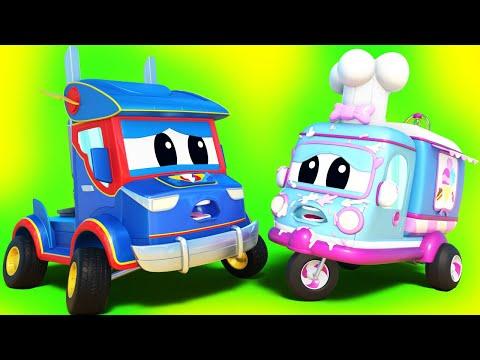 การ์ตูนรถบรรทุกสำหรับเด็ก เจ้าเฮลิคอปเตอร์ ในภาระกิจตามหารถยกที่หายไป ซุปเปอร์ ทรัค ในคาร์ ซิตี้!