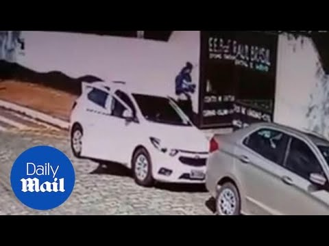 CCTV shows gunmen arriving at Sao Paolo school before shooting
