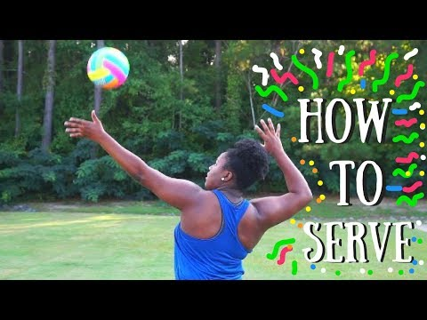 HOW TO OVERHAND SERVE FOR BEGINNERS!