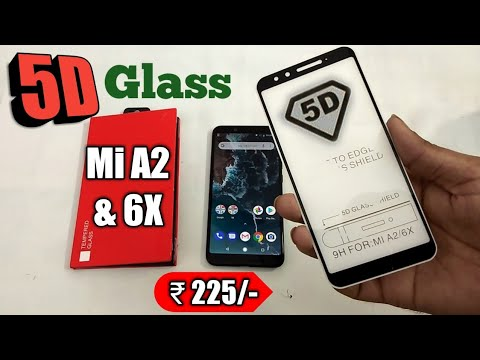 Mi A2 / 6X 5d tempered glass full edge to edge protection best & cheap