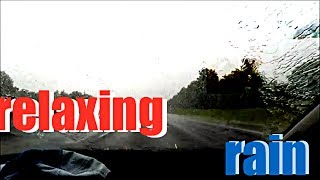 Relaxing Rainey Car Ride (gopro hero 5)