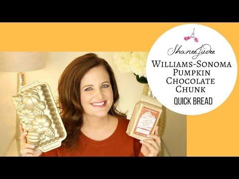 How To Make Williams-Sonoma Pumpkin Chocolate Chunk Quick Bread   Fall Recipe   ShaneeJudee