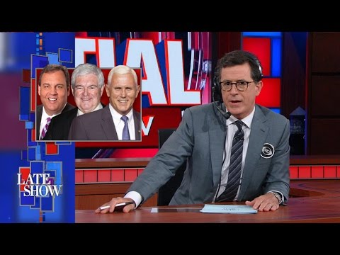 The Late Show Vice-Presidential Draft Preview